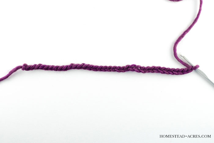 Crochet Ribbed Hat Pattern Chain