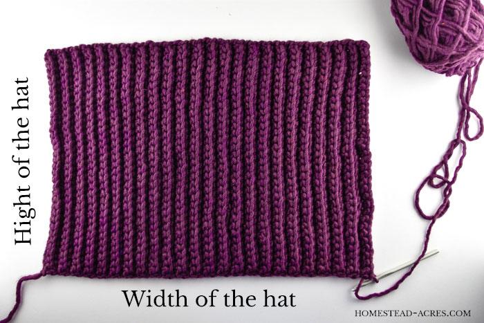 Crochet Ribbed Hat Pattern Flat