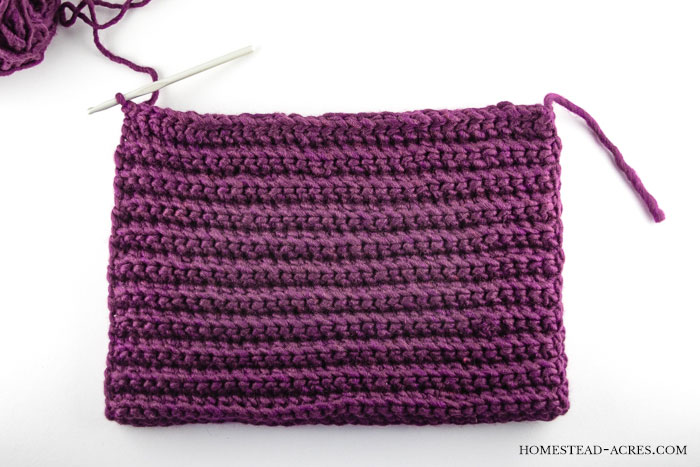 Crochet Ribbed Hat Pattern Stitch The Sides