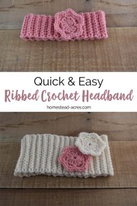 This free crochet headband pattern is so quick and easy to make. It's the perfect beginner crochet pattern. #Crochet #Crochetpattern