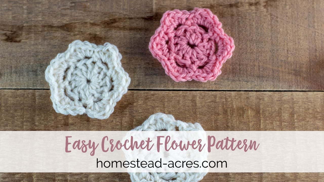 Easy Crochet Flower Pattern With Step By Step Video And Photos