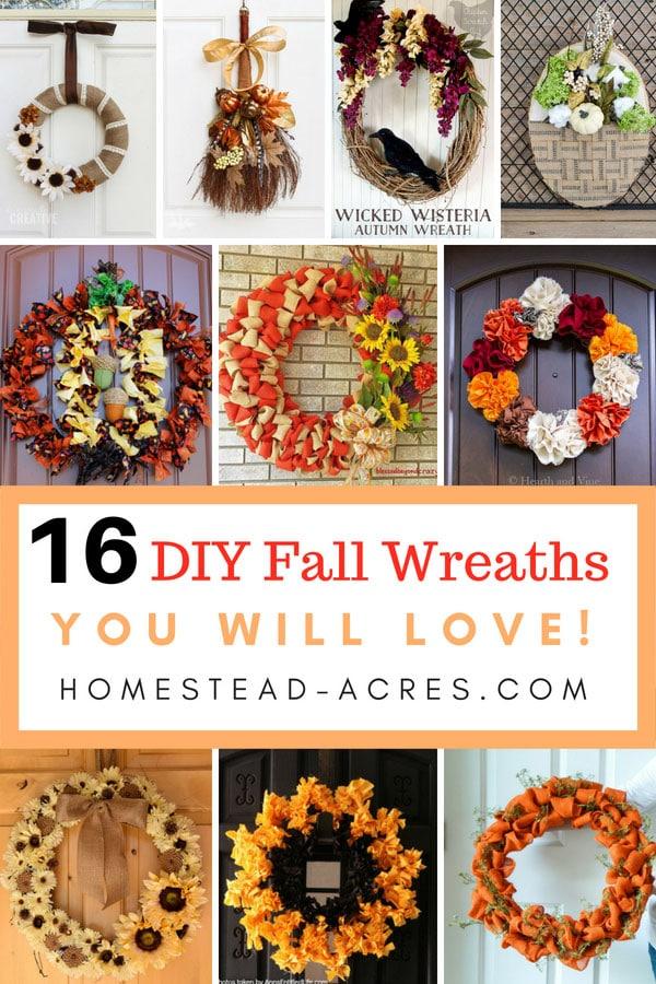 16 Diy Fall Wreaths You Will Love Homestead Acres