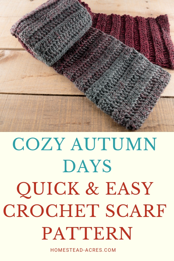 Easy Crochet Scarf Pattern For Beginners Cozy Autumn Days Scarf