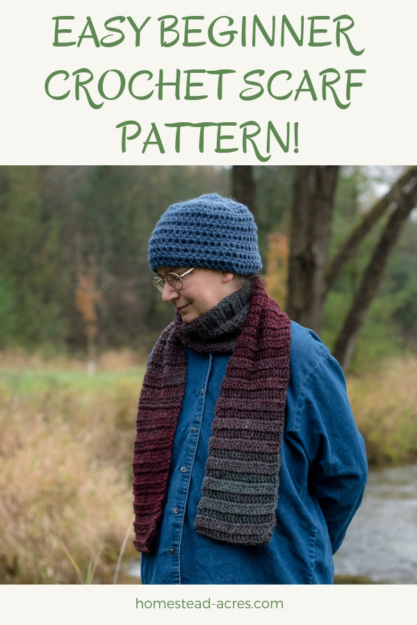 Easy Crochet Scarf Pattern For Beginners - Cozy Autumn Days