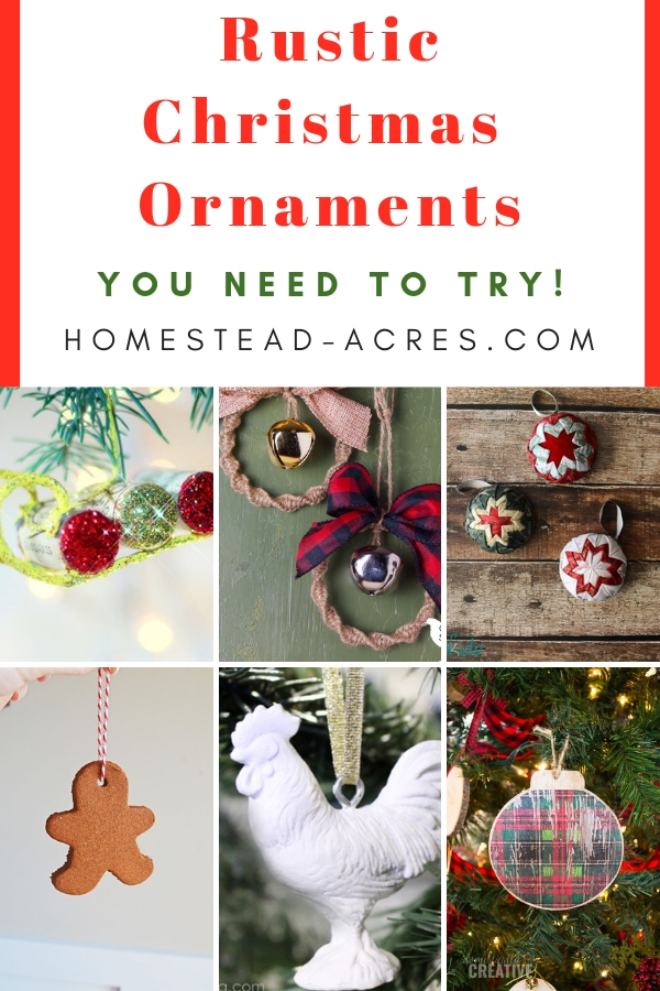 20 Diy Rustic Christmas Ornaments Frugal Crafts Homestead Acres