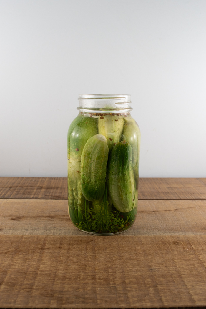Homemade whole dill pickles