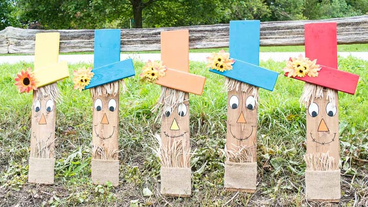 How To Make A Wooden Scarecrow Face