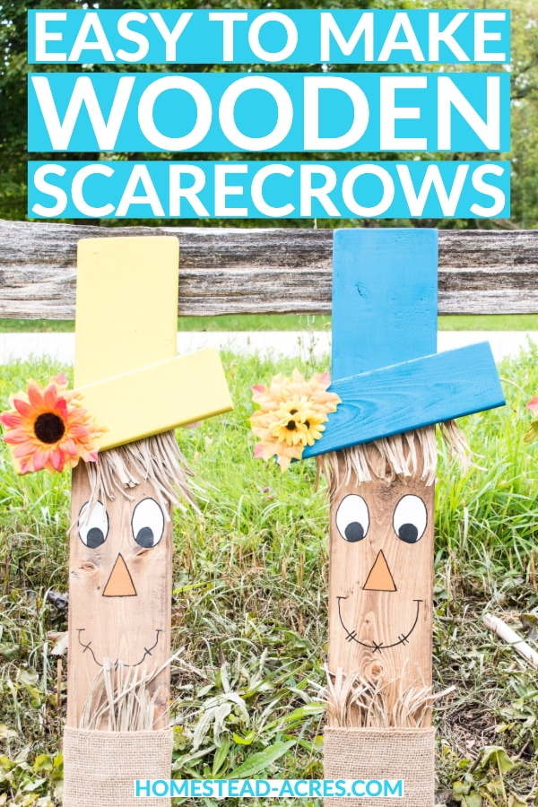 Easy to make wooden scarecrow