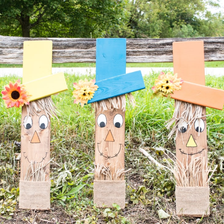 How To Make A Wooden Scarecrow Face With Printable Template