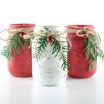 Christmas Painted Mason Jars DIY